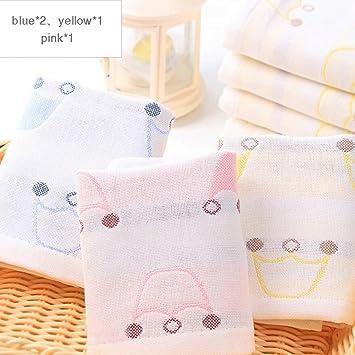 ZLR Toalla para niños Toalla de cara de lavado de algodón sólido de dibujos animados Toalla ...