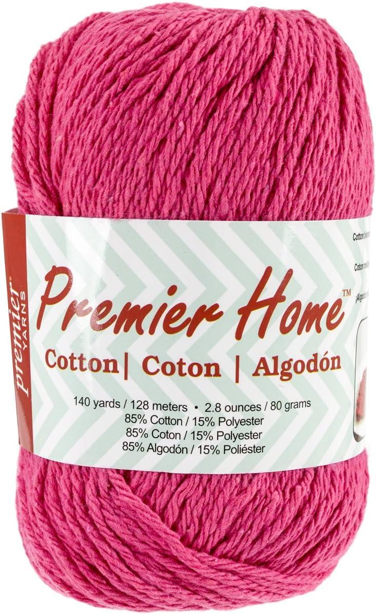 Premier Yarns 38-9 Home Cotton Yarn, Solid Fuchsia