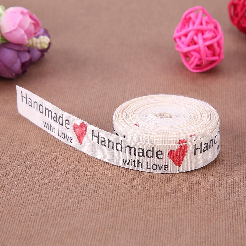 JUNERAIN Ruban Motif Amour de 5 Yard Ruban /Étiquettes de v/êtements Artisanat DIY Bowknot Accessoire