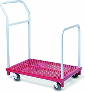 "product image for Raymond 3942 Steel Mini Heavy Duty Platform Truck with Removable Retaining Handle, 850 lbs Capacity, 36"" Length x 24"" Width Platform"