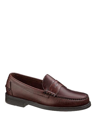 Sebago Men'S Grant Man'S Leather Shoes Black in Size 41.5 2E Sm9fWT