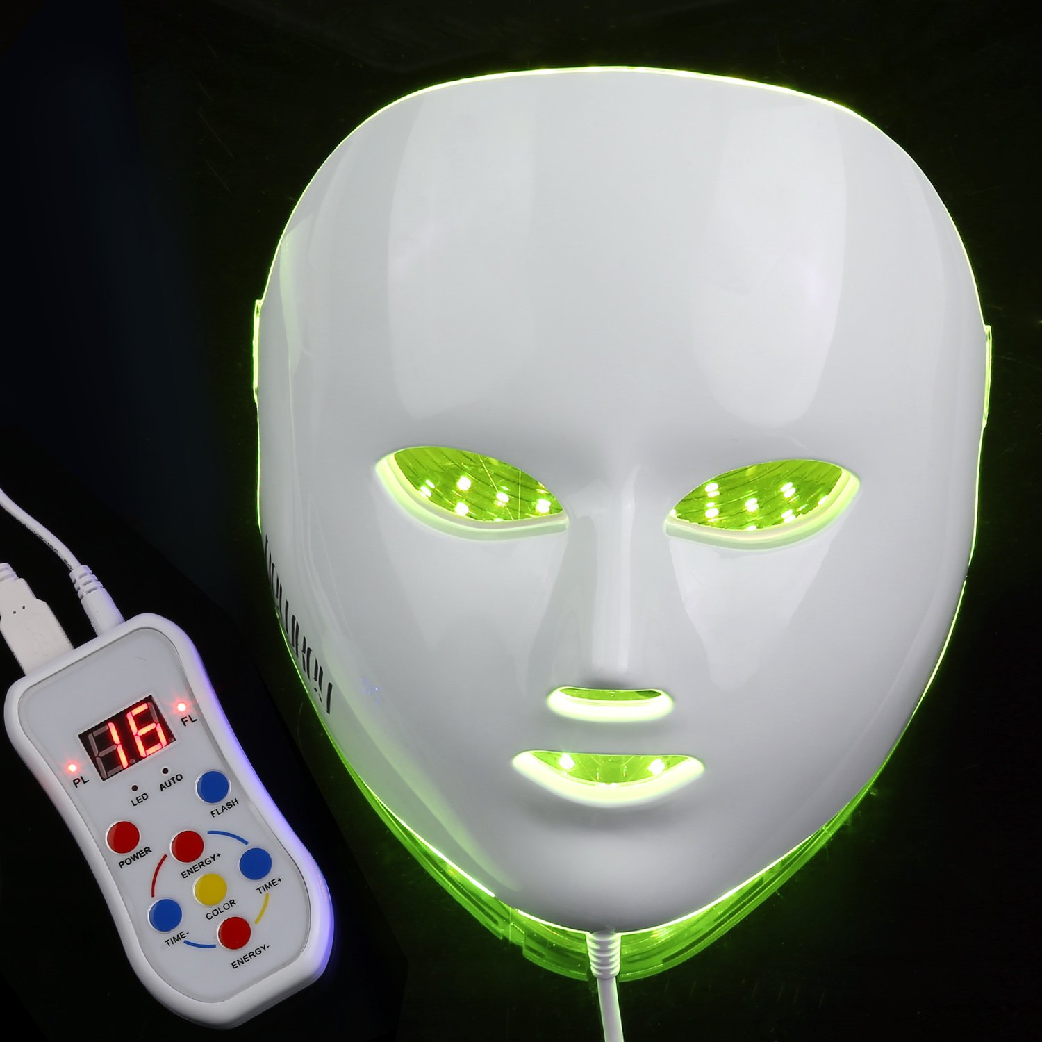 NEWKEY LED Photon Light Therapy Facial Mask Professional Anti Aging Skin Care Device for Face Whitening and Smooth - 1 YEAR WARRANTY by NEWKEY (Image #5)