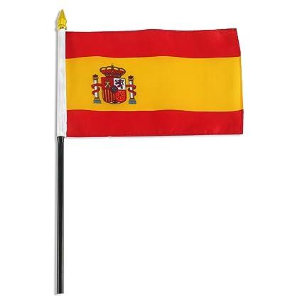Amazon.com: Bandera de España 4 x 6 inch: Jardín y Exteriores