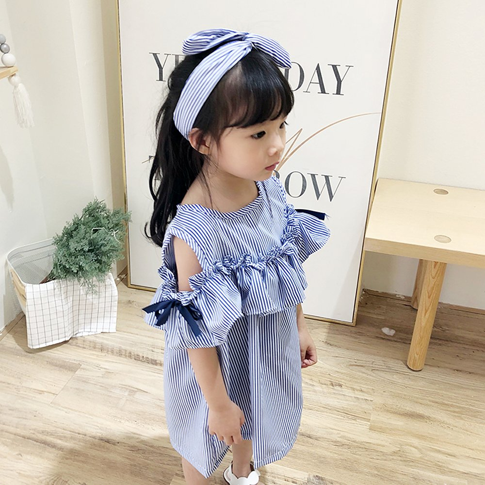 Robasiom Little Girls Dress Cotton Casual Short Sleeve Skirt for Summer Parenting Family Dress by Eden Babe (Image #4)