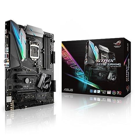 Amazon com: ASUS ROG STRIX Z270F GAMING LGA1151 DDR4 DP HDMI