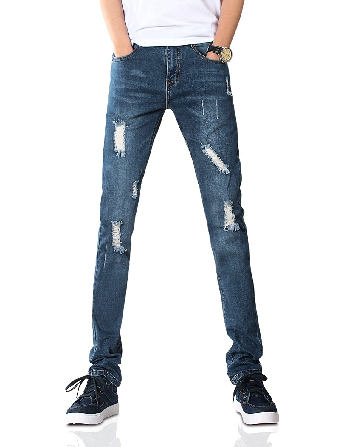 Demon& Hunter YOUTH Series Men's Skinny Slim Jeans DH8008