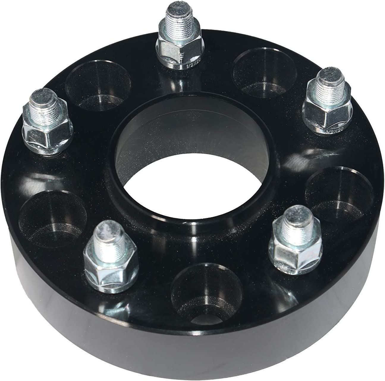 Wheel Spacer Set of 4-5x5 Bolt Pattern 1//2 x 20 Studs 1.5 Thick 06-10 Commander Renewed Fits 2007-2018 Jeep Wrangler 2005-2010 Grand Cherokee 5x127mm /& Wheel Centric Adapter 71.5mm Hub Bore