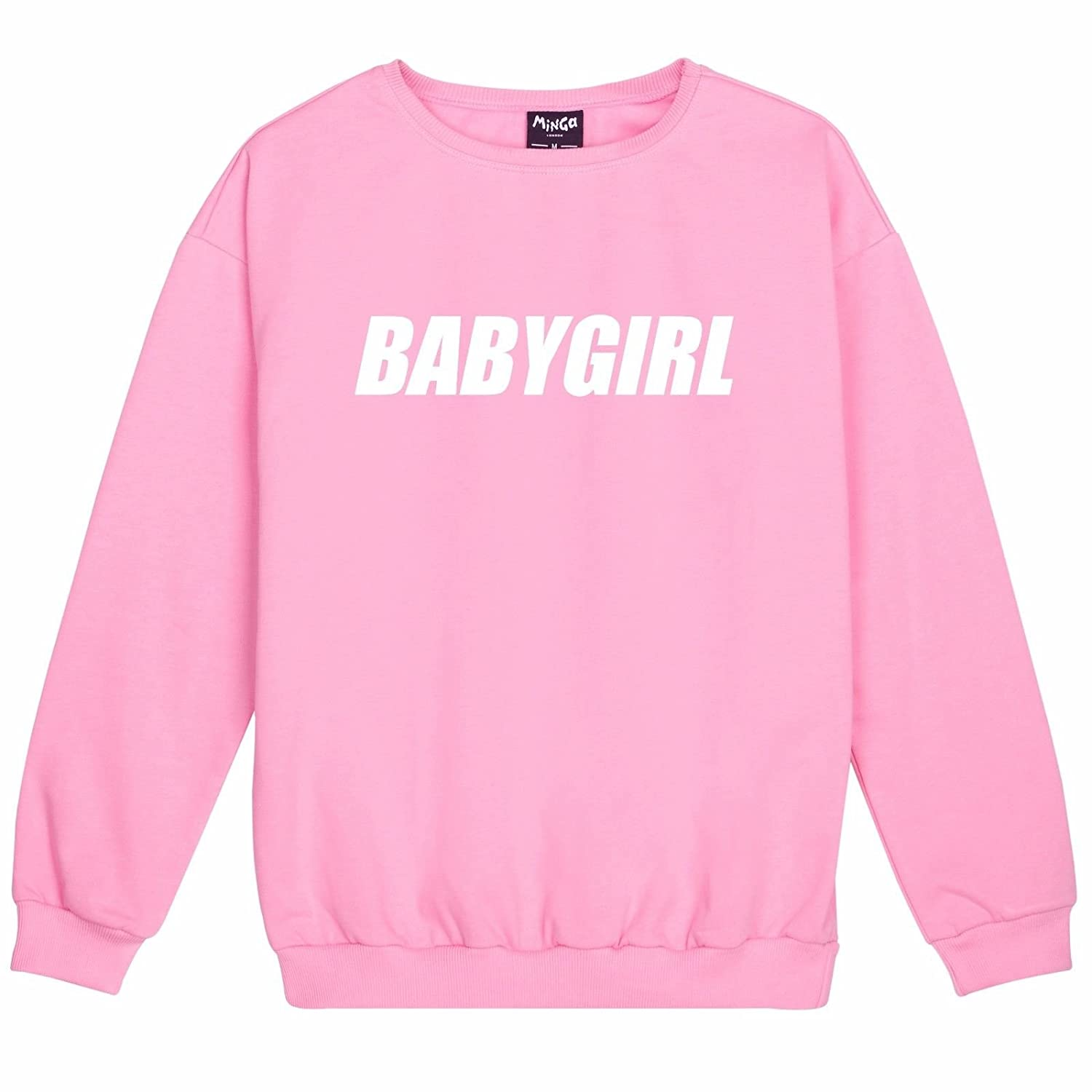 Babygirl Sweater Top Women's Fun Tumblr Cute Pink at Amazon ...