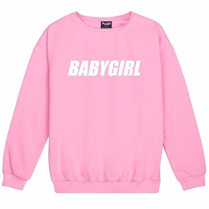 Tumblr Sudadera con texto en inglés: Babygirl, para mujer, diseño divertido, color rosa rosa rosa Large: Amazon.es: Ropa y accesorios