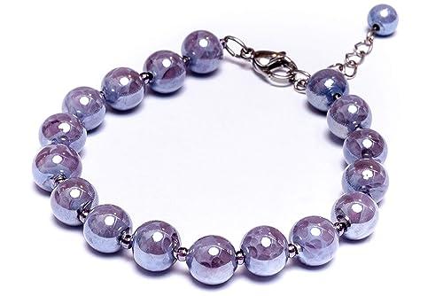 Amazon.com: Millefiori Perlido Glamour - Pulsera de cristal ...