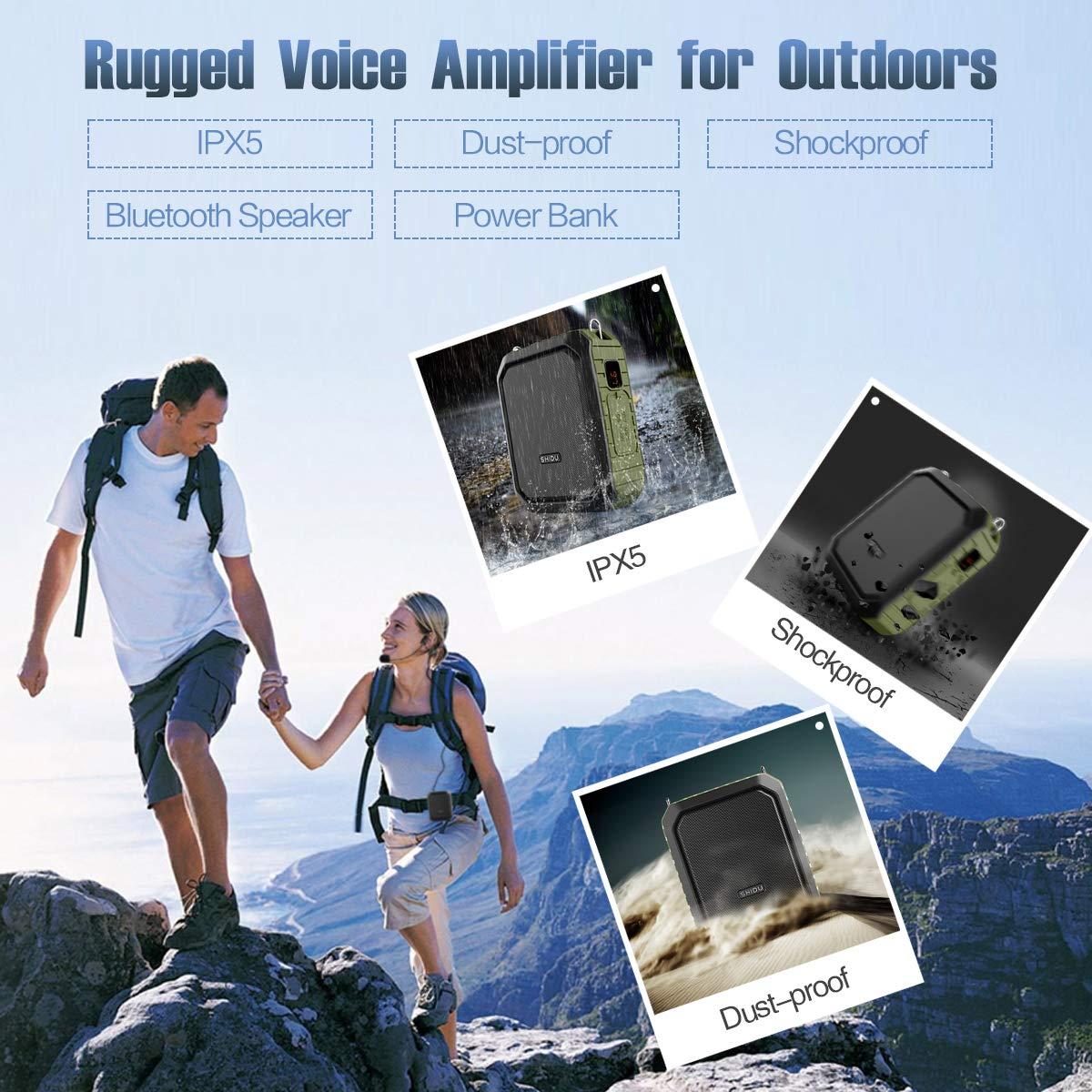 Winbridge Voice Amplifier With Microphone Headset Megaphone Clip Amp Loop September Powerbank Slim 80000mah Portable Bluetooth Speaker Power Bank Waterproof Ipx5 For Outdoors Activities