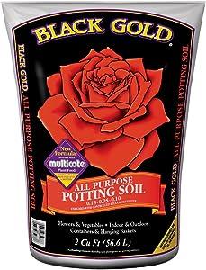 Black Gold 1410102 16 QT U 16 Quart All Purpose Potting Soil With Fertilizer