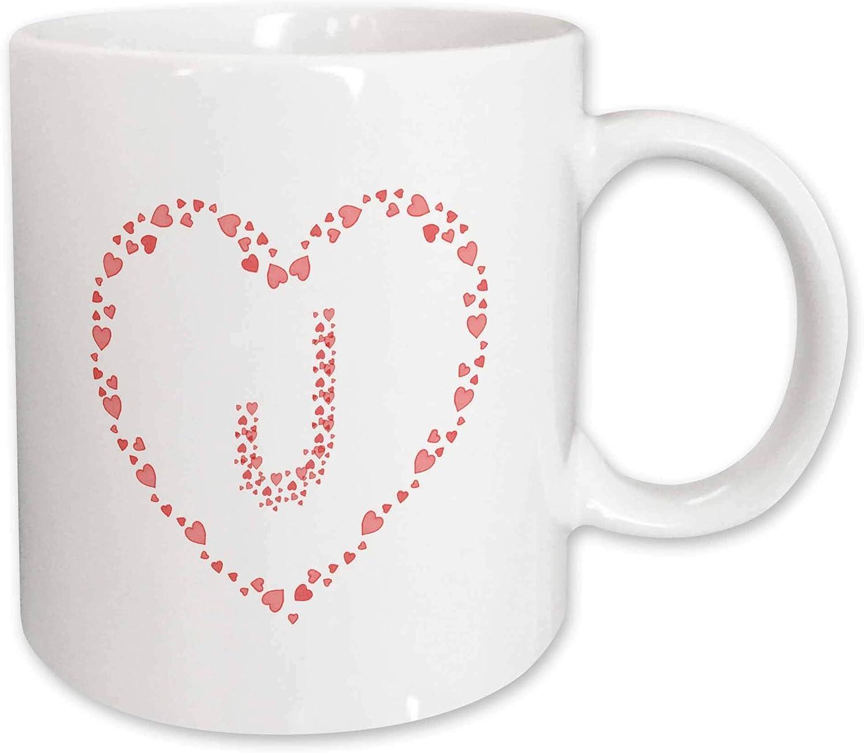 Monogram Pink Hearts Superb Initial J Pink Hearts Valentine Day Elegant Monogram T-Shirts 3dRose Alexis Design