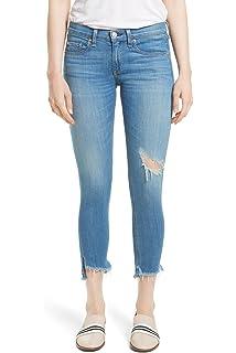7b36194d467 rag   bone Capri Skinny Jeans Destroyed Sunset Wash Step Fray Hem