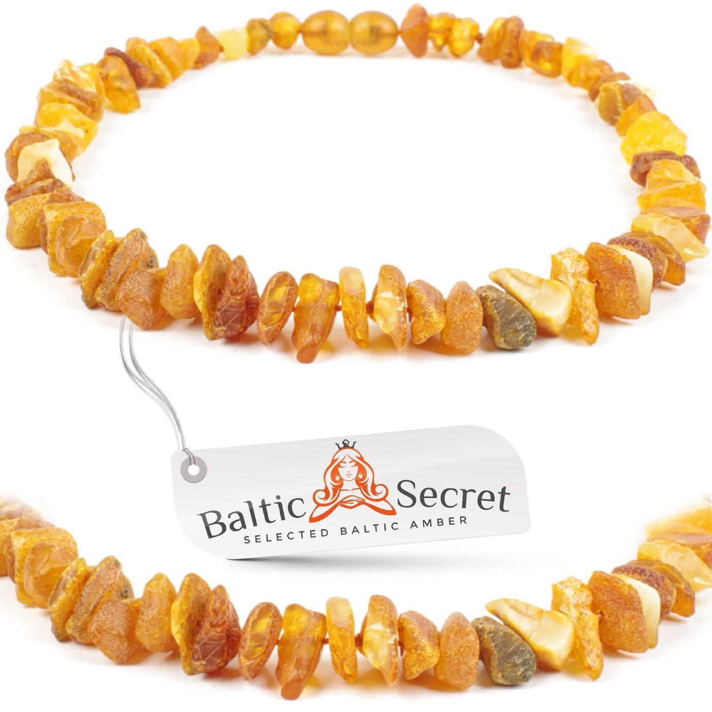 Baltic Secret Bernstein Halsband für Hunde und Katzen - Bernsteinkette hund - Zeckenhalsband - Zeckenschutz hund - Vershiedene Grössen zum Auswählen AmberForPets PN40-C3Ch-chp.0626