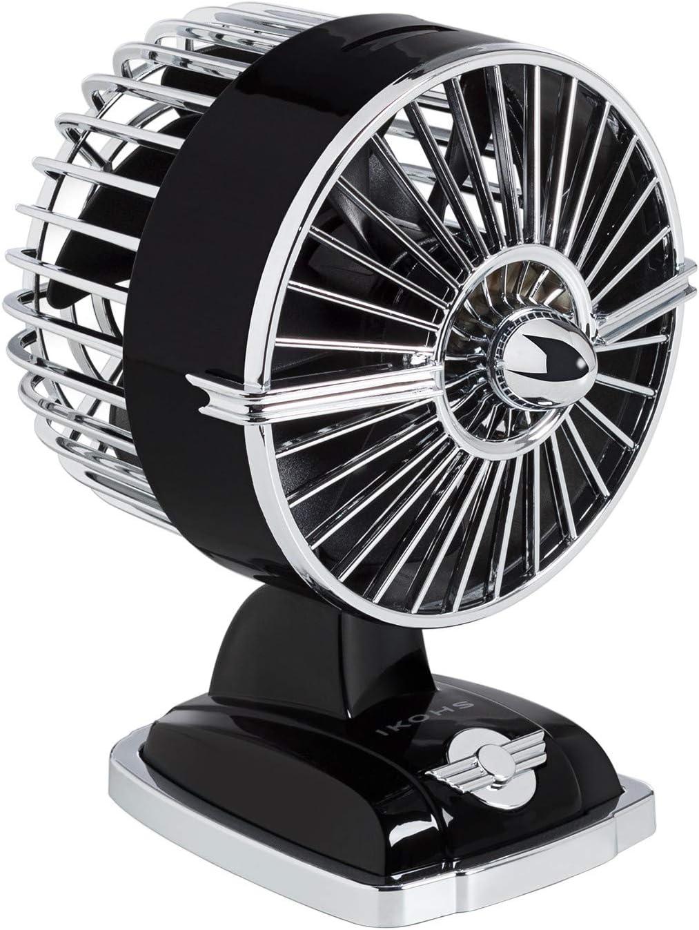 IKOHS Ventilador de Mesa Retro Line VT1511-IK USB 1.5W Negro - (Elige Color)