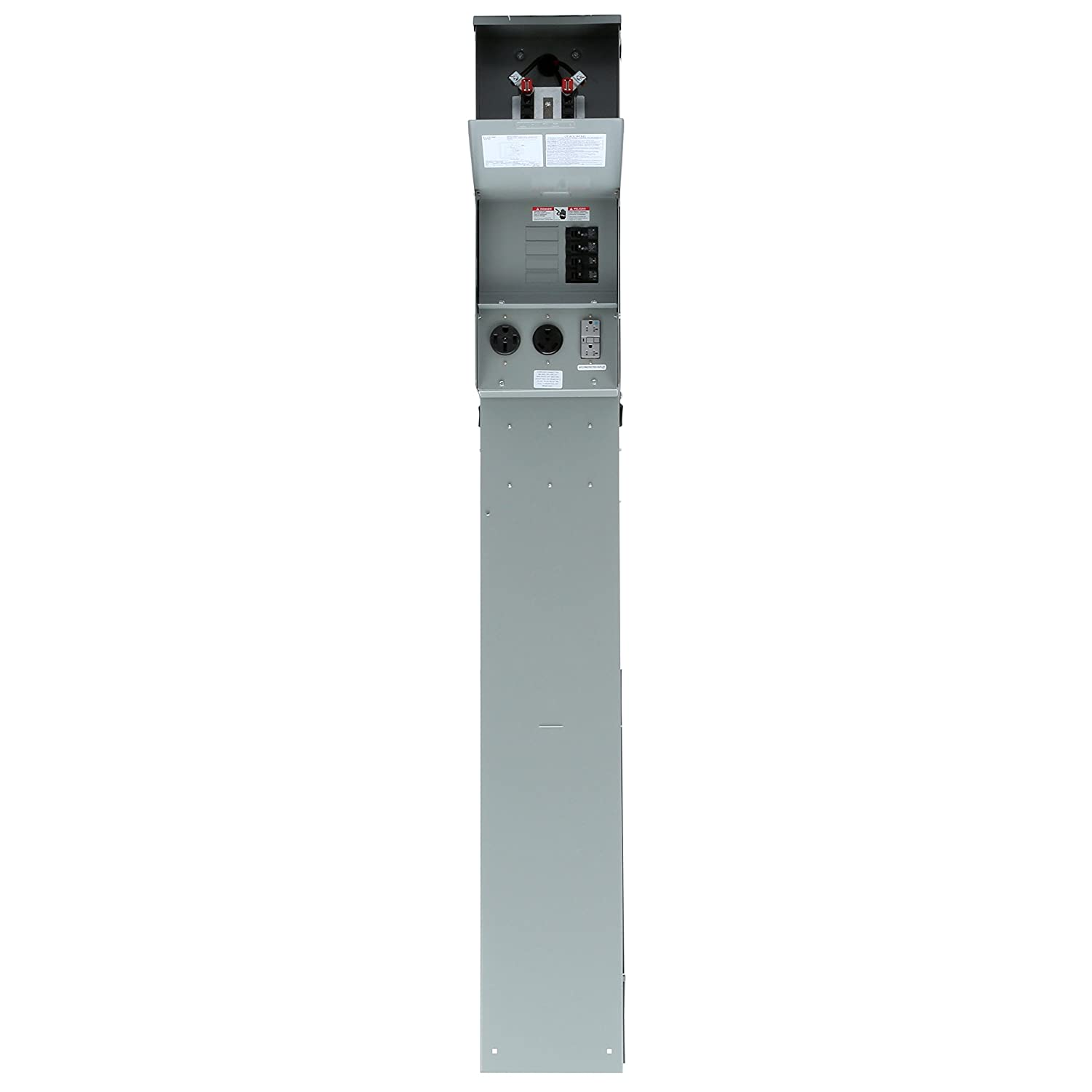 Siemens Tl137Np Talon Temporary Power Outlet Panel Pedestal mit ein 20, 30, und 50-Amp Receptacle Installed Includes ein Ring Type Meter Socket Provision