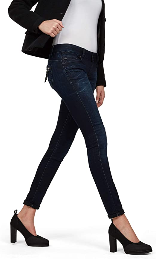 G Star Raw Damen Skinny Jeans Midge Cody Mid Skinny Slander Flint Super Stretch