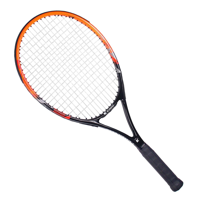 KEVENZ Green Advanced Training Tennis Racket Tennis Racquet (Black Racket)