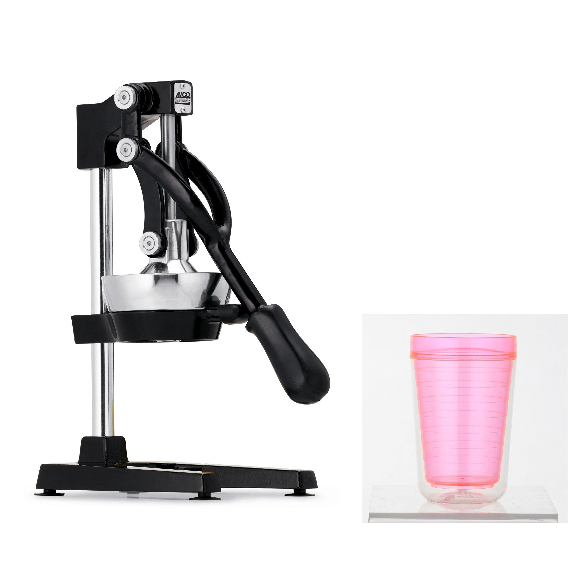 Focus Foodservice Jupiter Large Commercial Juice Press (Black w/BPA Free Juice Cup)