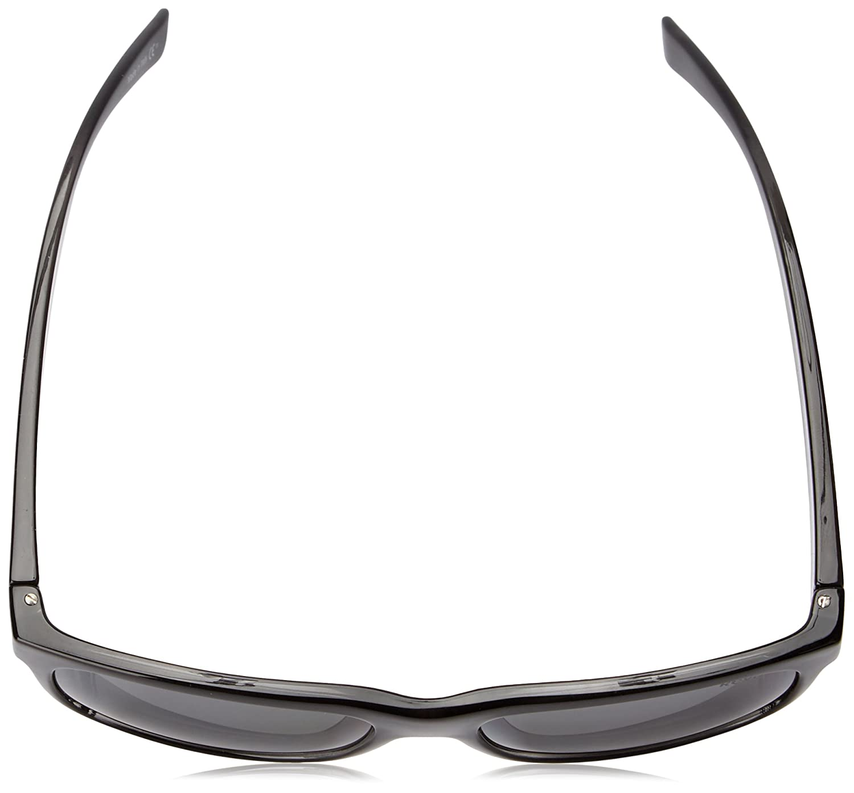 Revo Lukee RE 1020 01 GY Polarized Square Sunglasses Black Woodgrain//Graphite 56 mm