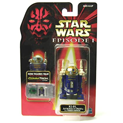 Star Wars Episode I Commtech Chip R2 B1 Astromech Droid With Power Harness Collectible Figure by Star Wars