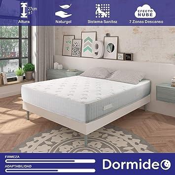 DORMIDEO - Colchón Viscoelástico City Luxury - Fibras ecológicas Cashmere, Antibacterias, 90x200cm: Amazon.es: Hogar
