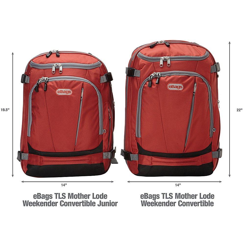 eBags TLS Mother Lode Weekender Convertible Junior (Solid Black)   Amazon.ca  Sports   Outdoors c93cc1efd20e6