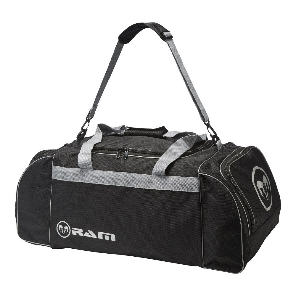Ram Rugby Club Players Kit Bag - Black/Silver - 2 Sizes Available