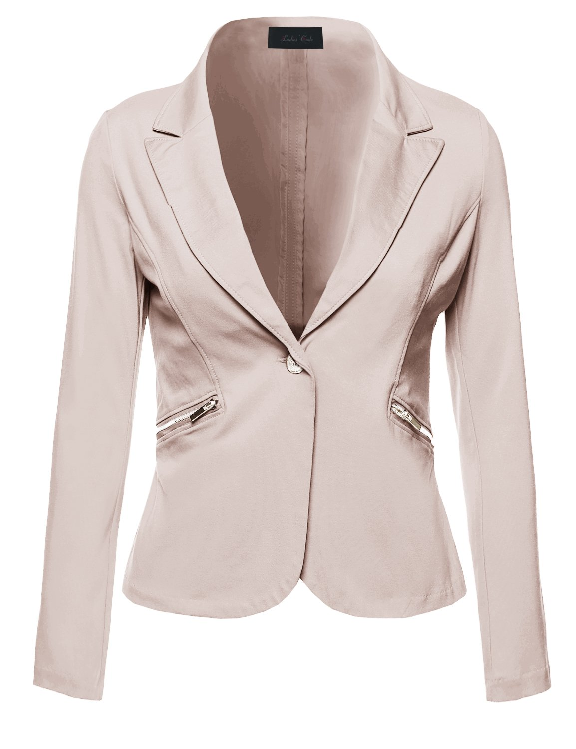 Ladies' Code Business Office Wear Long Sleeve One Button Fly Blazer Khaki M Size
