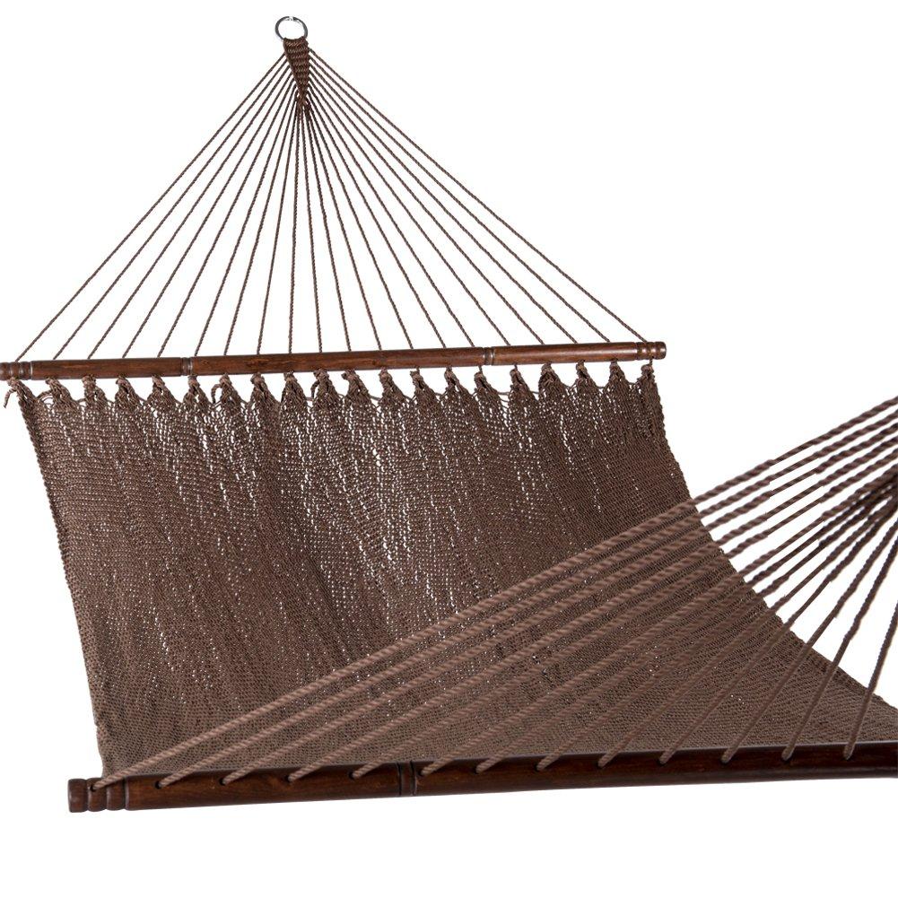 PG PRIME GARDEN Two Point Tight Weave Caribbean Hammock-Mocha