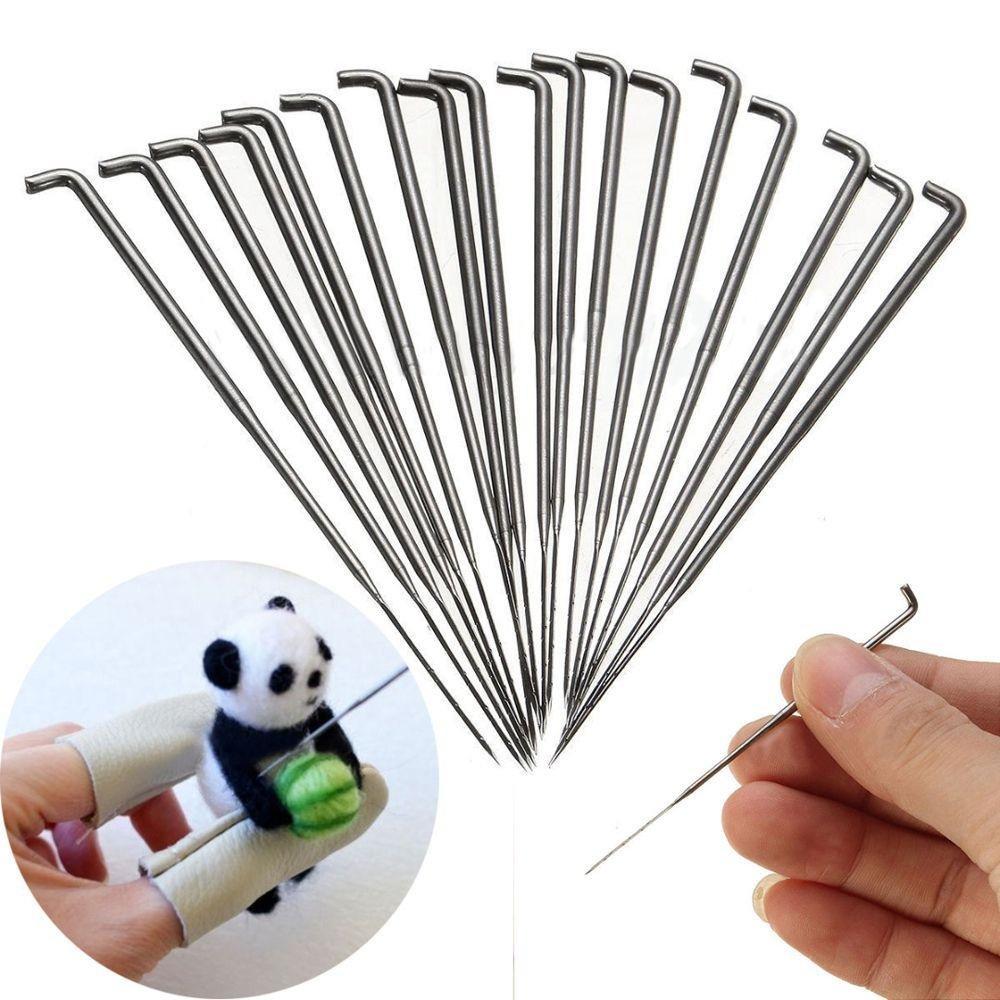 Junbuoom 30PCS/Set 3.5/3.4/3 inch Kit DIY Crafts Embroidery Wool Pin Felt Tools Knitting Accessories Felting Needles
