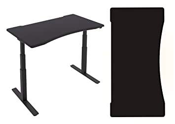PC Gamers Sit Stand Gaming Desk with 1600mm Ergonomic Desk Top