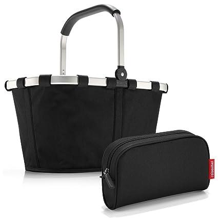Reisenthel Exklusiv-Set: bk7003 carrybag Black Plus GRATIS ls7003 makeupcase Black