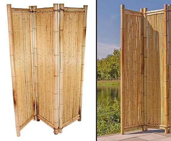 Raumteiler Aus Gelben Bambus 150 X 180cm 3teilig Raumtrenner