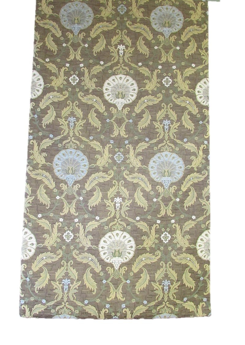 Corona Decor Extra-Wide Italian Woven Ornamental Table Runner, 95 by 26-Inch, Brown