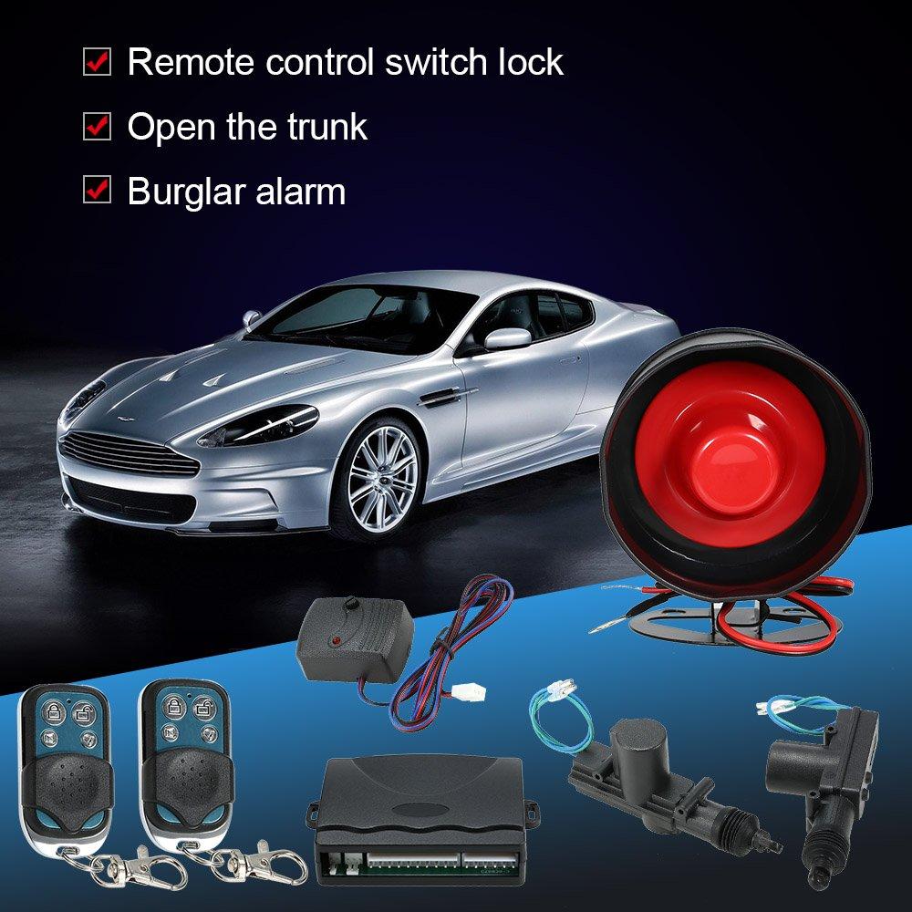 Fernbedienung Alarm Sensor Crash Kit Kfz KKmoon ohne Schl/üssel Zentralverriegelung f/ür 2/T/üren
