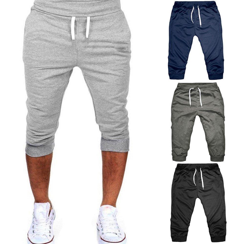 LEORTKS Pantalones Hombre Verano, Casual Jogger Dance Sportwear ...