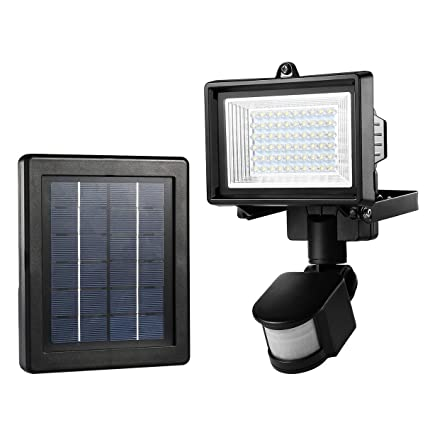 LE Outdoor Solar Flood Lights, Motion Sensor Light, Waterproof, High Output 60 LED