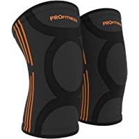 ProFitness Knee Sleeves (One Pair) Knee Support for Joint Pain & Arthritis Pain Relief - Effective Support for Running, Pain Management, Arthritis Pain, Post Surgery Recovery