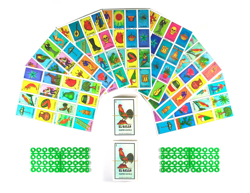 picture about Printable Loteria Mexicana identify Loteria Mexicana Board Video game Package - Loteria Mexicana Bingo Sport for 20 Avid gamers - Incorporates 2 Deck of Playing cards and Discussion boards - With No cost Markers - For the