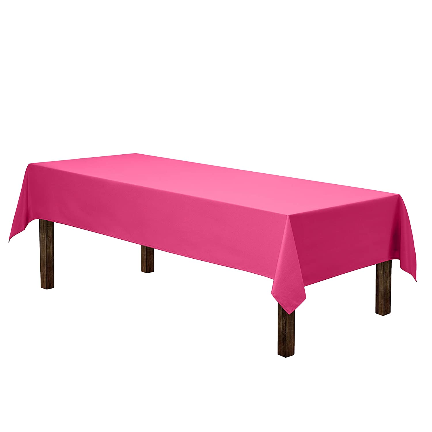 "Gee Di Moda Rectangle Tablecloth - 60 x 102"" Inch - Fuchsia Rectangular Table Cloth for 6 Foot Table in Washable Polyester - Great for Buffet Table, Parties, Holiday Dinner, Wedding & More"