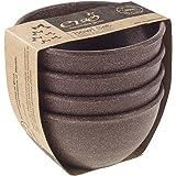 EVO Sustainable Goods 10 oz. Bowl Set, Dark Brown