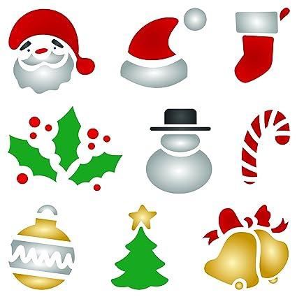 Christmas Designs.Amazon Com Christmas Designs Stencil 6 5 X 6 5 Inch M