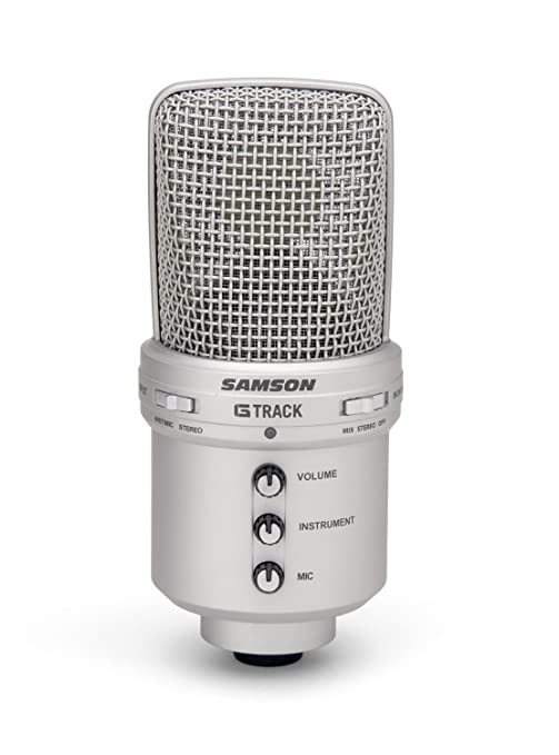 12 opinioni per Samson G-Track Microfono a Condensatore USB con Scheda Audio e Mixer Integrati