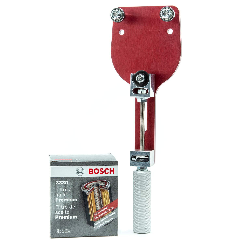 Bosch 3330 Premium FILTECH Oil Filter with Longacre 77750 Oil Filter Cutter