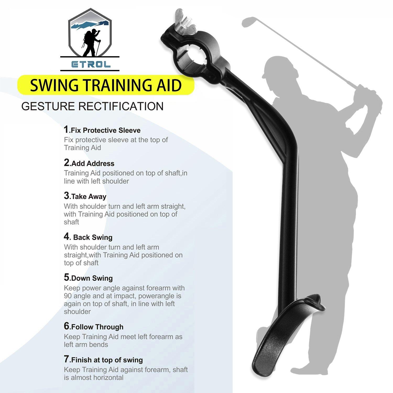 ETROL Golf Swing Training Aid Practicing Guide - Golf Swing Arm Band Training Aid - Gold Training Set by ETROL (Image #4)