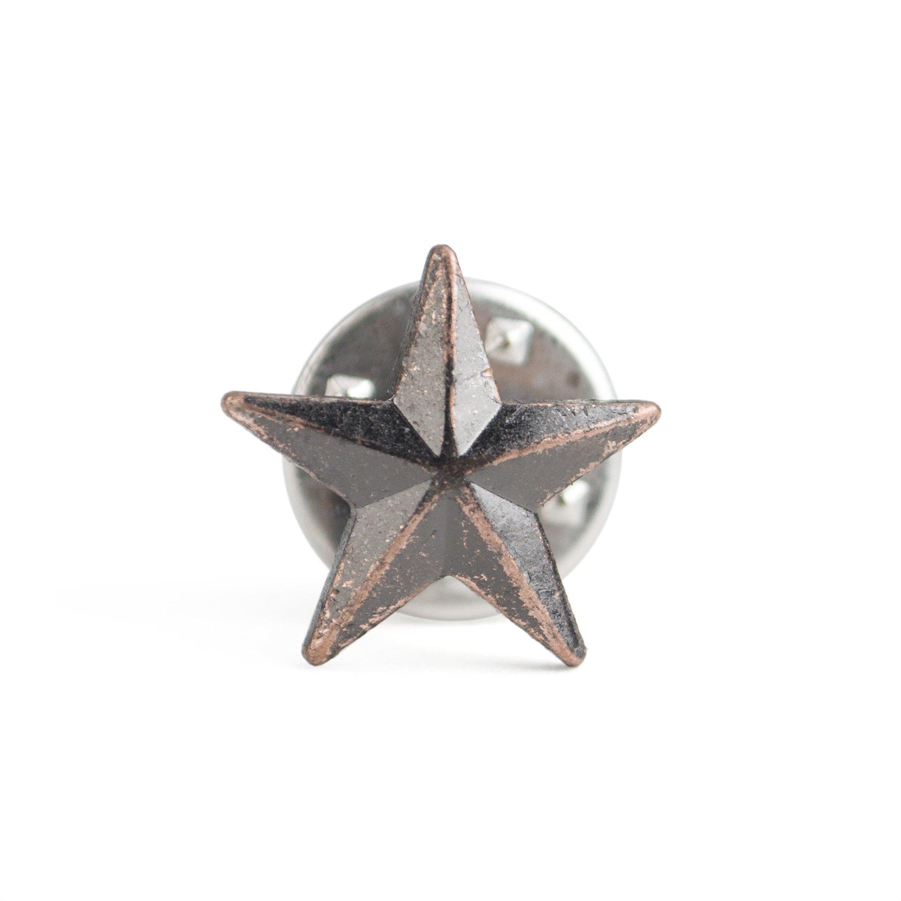 (Price/100PCS) ALICE 3D Metallic Finish Star Lapel Pin, 1/2'' - Bronze by Alice (Image #2)