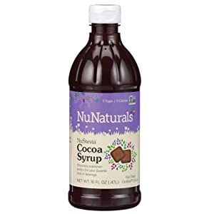 NuNaturals Premium Plant Based Cocoa Syrup, Sugar-Free, Stevia Sweetened, 16 Ounce