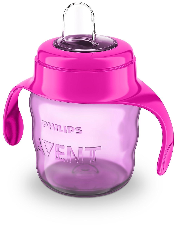 v/álvula antigoteo 200 ml Philips Avent SCF551//03 para bebe de 6 meses color rosa sin BPA Vaso con boquilla de silicona para ni/ña